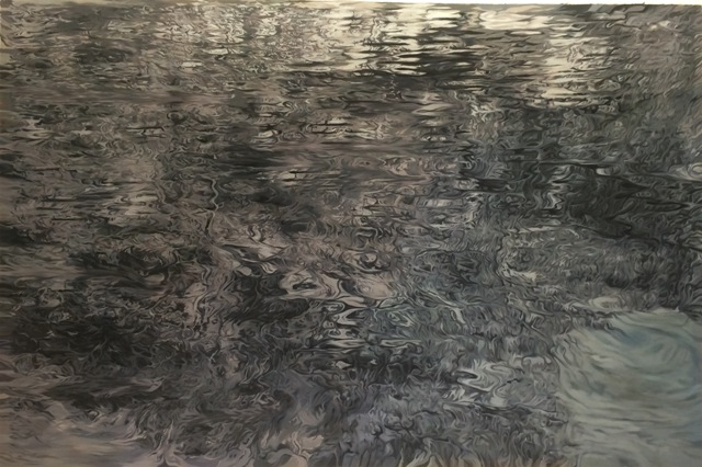 Julio Valdez - Skaneateles, 2010-2012, Oil and ink on canvas, 41.50 x 78 inches